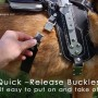 Quick-Release buckles make it easy to put on and take off