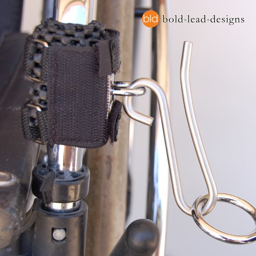 Wheelchair Hook mounted to frame of chair