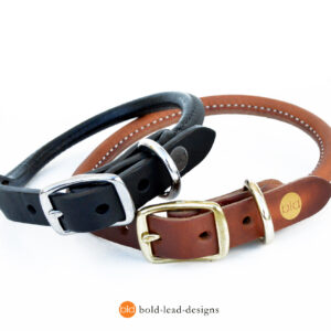 Rolled Collars, Black and Tan_1659
