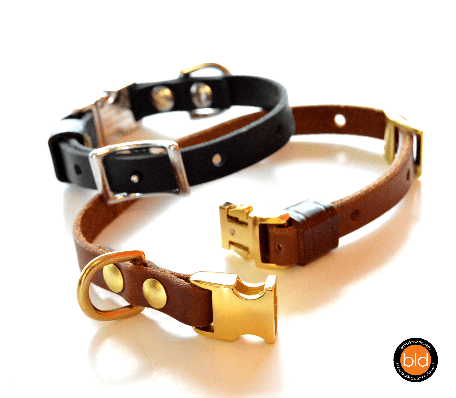 BLD's Quick Release Collar™ - Leather dog collar with ...