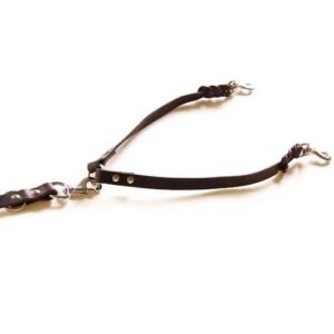 COUPLER or brace, leather dog leash accessory