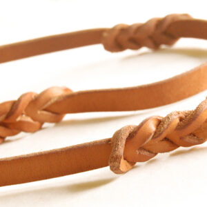BLD Easy Grip Lead — braided leather dog leash