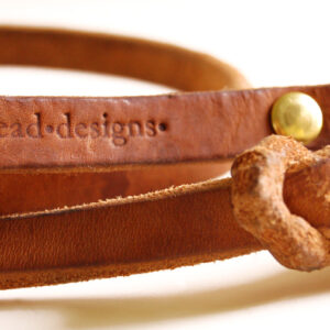 Beautiful golden tan bridle leather, BLD brand