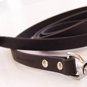 Leather Tracking Lead, black XL