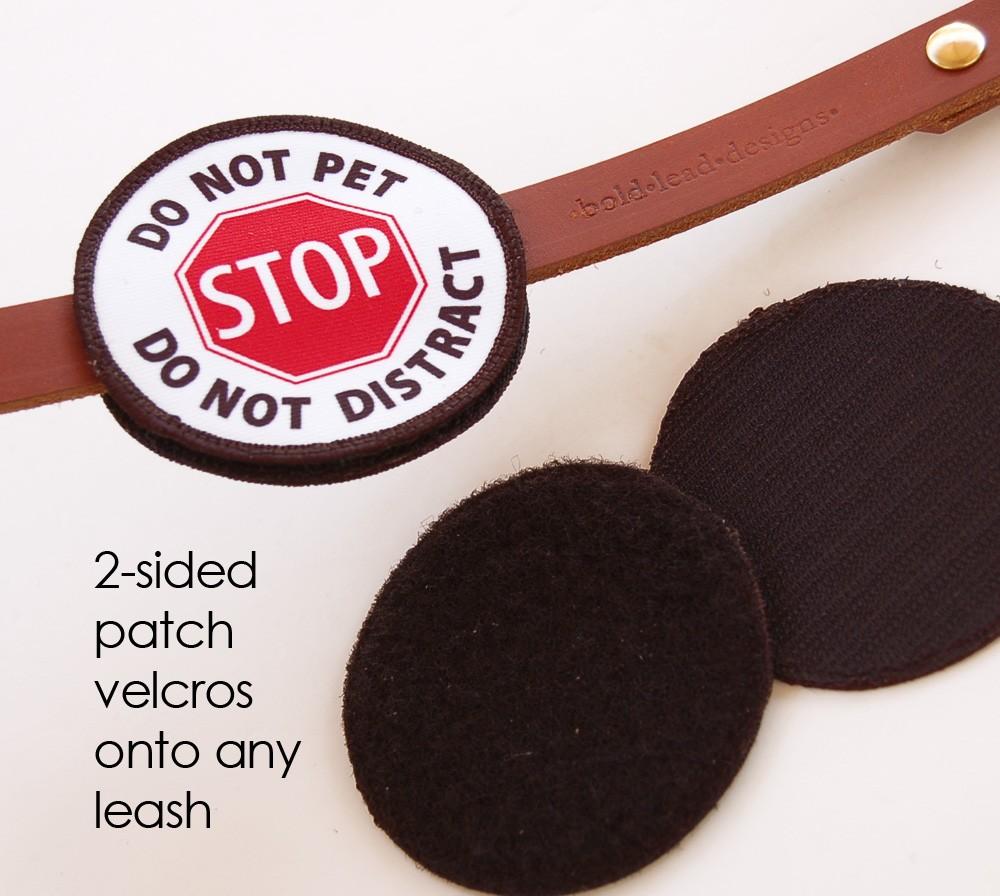 DINOS: le ruban jaune pour les chiens qui ont besoin d'espace  - Page 9 Velcros-onto-leash