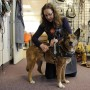 AURORA, CO - DECEMBER 30: Katrina Boldry exhibits the mobility support harness on her dog Cora in the showroom of Bold Lead Designs on December 30, 2015, in Aurora, Colorado. Boldry started Bold Lead Designs in 2008. (Photo by Anya Semenoff/The Denver Post)
