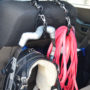 Hang from vehicle head rests to keep gear orgainzed