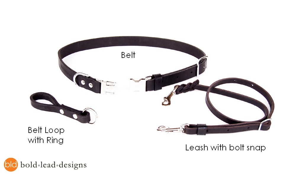 leather belt leash system a custom free belt