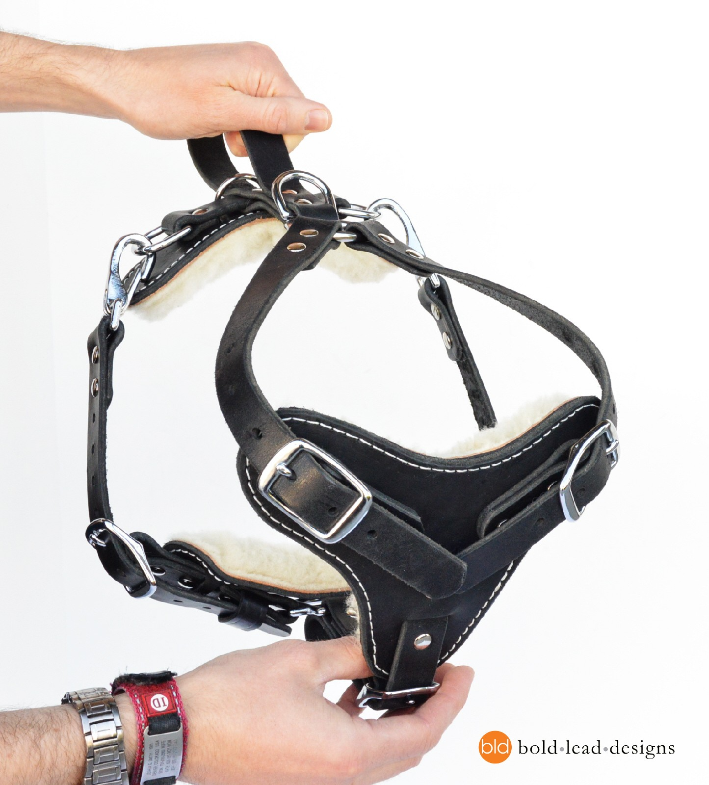 Diagram Tracking Agitation Harness For Working Dogs Padded 2