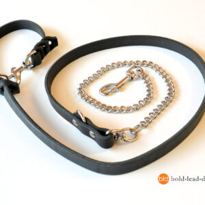 chain and leather 8-way lead_3806